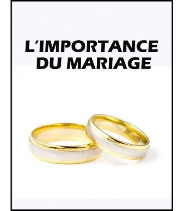 L'importance du Mariage (cd)