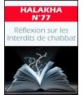 Halakha 77 reflexion sur les interdits du chabbat