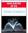 HALAKHA N 95 Teindre chabbat 2eme partie (pdf)