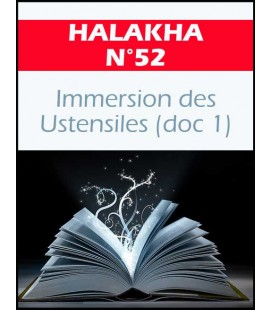 Halakha 52 immersion des ustentiles doc1
